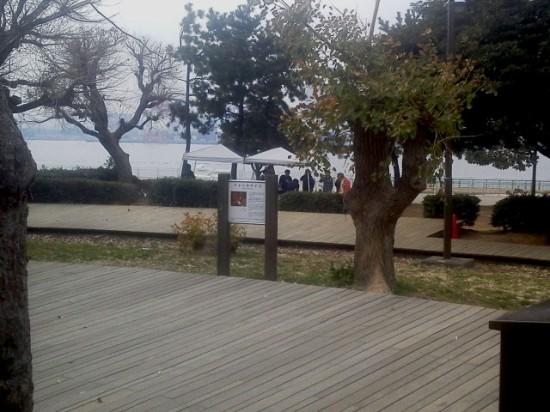 潮風公園 バーベキュー会場レンタルセットの設置例