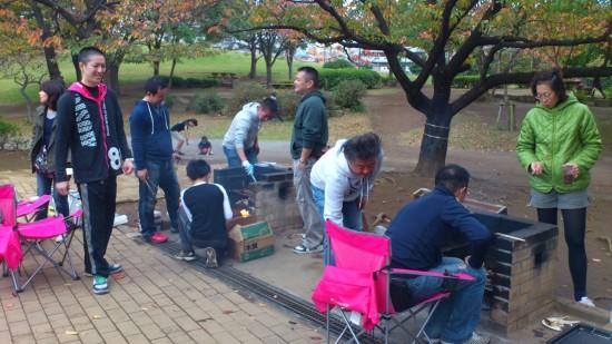 富士公園バーベキュー場備え付け炉